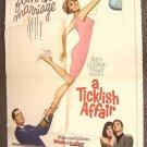 SHIRLEY JONES a TICKLISH AFFAIR Movie Poster GIG YOUNG