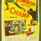 TOMBOY AND THE CHAMP  Poster CANDY MOORE Lucy Show fame