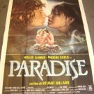 PARADISE  French POSTER Willie Aames PHOEBE CATES Sexy