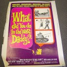 BLAKE EDWARDS What Did You Do in the War, DADDY? Poster