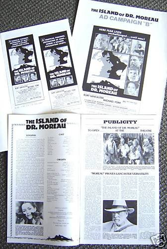 ISLAND OF DR. MOREAU Ad Campaign PRESSBOOK Michael York
