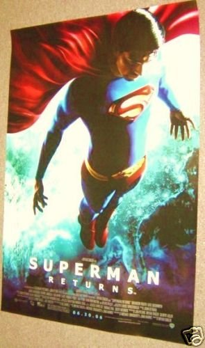 SUPERMAN Returns DOUBLE SIDE Movie POSTER Brandon Routh