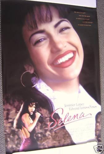 SELENA  Double Side MOVIE Poster JENNIFER LOPEZ   Perez