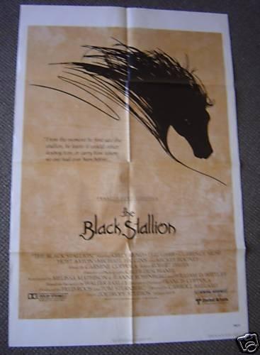 BLACK STALLION Original 1-Sheet POSTER Arabian Horse 79