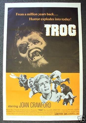 TROG Original 1-Sheet POSTER Last film of JOAN CRAWFORD