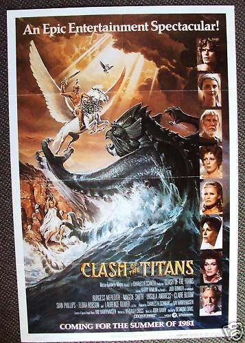 CLASH OF THE TITANS Avance 1-Sheet POSTER HARRY HAMLIN