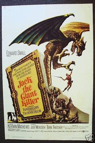 JACK THE GIANT KILLER 1-Sheet Poster KERWIN MATHEWS '62