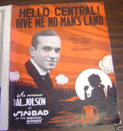 AL JOLSON Winter Garden Theatre SINBAD Sheet Music 1918