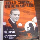 AL JOLSON Winter Garden Theatre SINBAD Sheet Music 1918