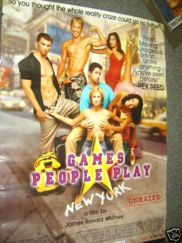 SHIRTLESS Blond Surfer GAMES PEOPLE PLAY Poster Muscle