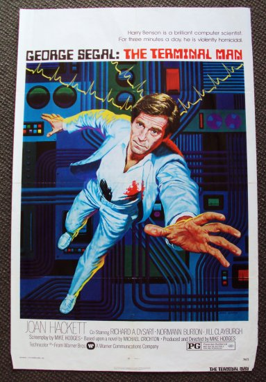 GEORGE SEGAL The TERMINAL MAN  1-Sheet  POSTER   Bionic