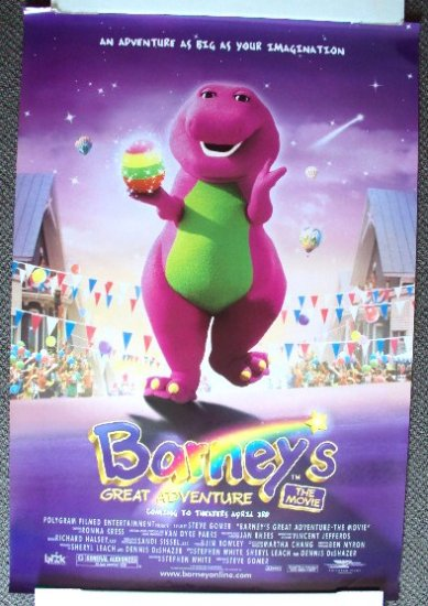 BARNEY'S Great Adventure ORIGINAL Poster DINOSAUR 1998