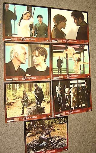 JENNIFER GARNER Sexy ELEKTRA Lobby Card SET Alias Star!