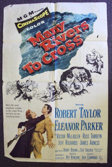 MANY RIVERS TO CROSS  1-Sheet  MGM Poster ROBERT TAYLOR