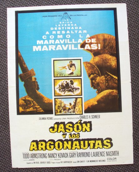 JASON and the ARGONAUTS Spanish Poster  RAY HARRYHAUSEN