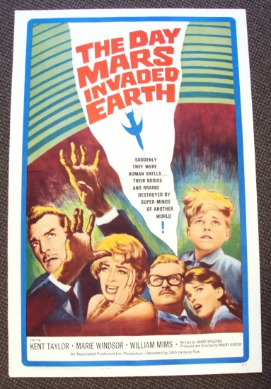 DAY MARS INVADED EARTH Poster MARIE WINDSOR Kent Taylor
