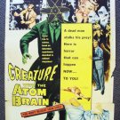 CREATURE WITH THE ATOM BRAIN 1-Sheet POSTER Sci-Fi 50's