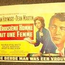 DEAN MARTIN  Susan Hayward  ADA  Original M.G.M. Poster