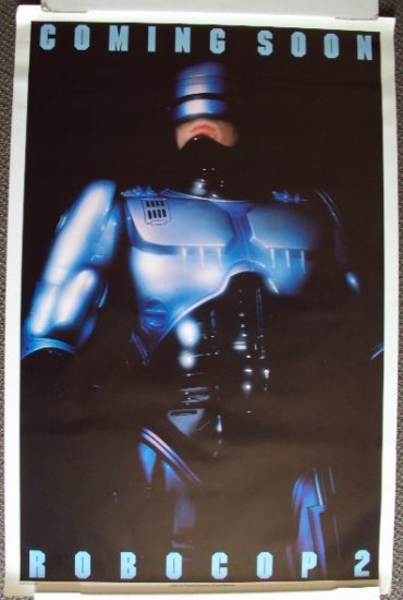 ROBOCOP 2 Original ADVANCE Double Sided Movie POSTER 89