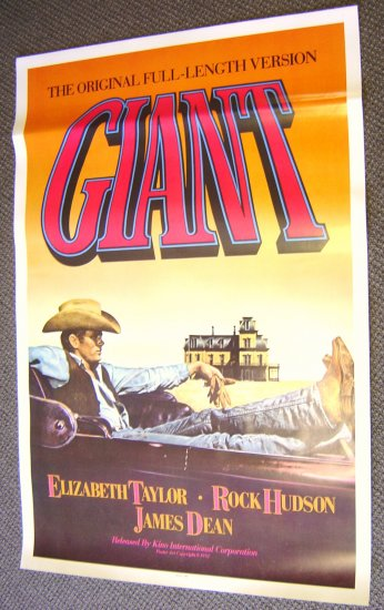GIANT Epic Saga JAMES DEAN  Poster Cowboy Western Look!