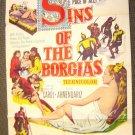 SINS OF BORGIAS Original 1-Sheet  Pictures POSTER Italy