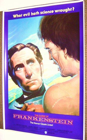CURSE OF FRANKENSTEIN Orgnl HAMMER Poster PETER CUSHING