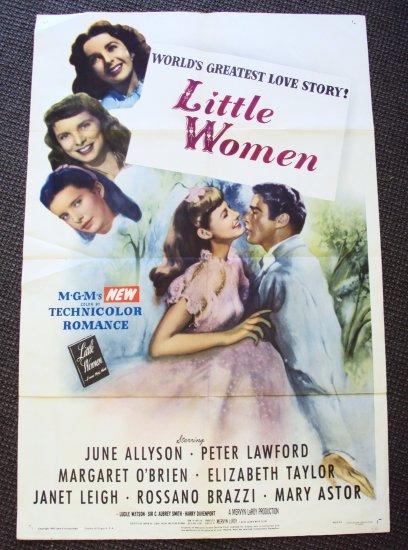 Elizabeth Taylor LITTLE WOMEN Poster  MARGARET O'BRIEN