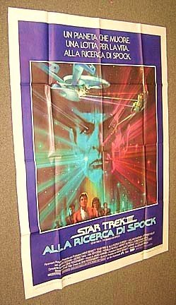 STAR TREK III Search for SPOCK  Italy  Original POSTER