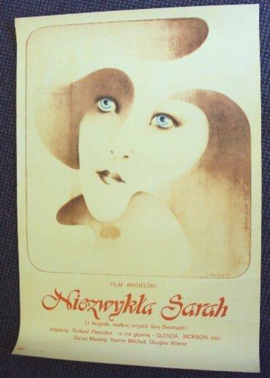 GLENDA JACKSON The INCREDIBLE SARAH Orgnl POLISH Poster