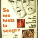 TROY DONAHUE Joey Heatherton  MY BLOOD RUNS COLD Poster
