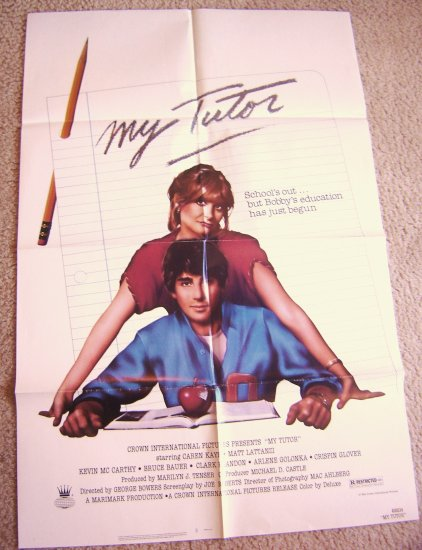 MY TUTOR Teenage 80's  POSTER Matt Lattanzi CAREN KAYE