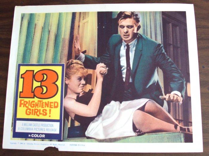 13 FRIGHTENED GIRLS! William Castle  POSTER Thirteen'59