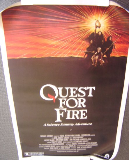 QUEST FOR FIRE Original  DRIVE-IN  Poster DARRYL HANNAH