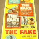 DENNIS O'KEEFE The FAKE 3-Sheet Poster COLEEN GRAY 1953