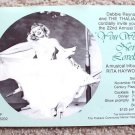 RITA HAYWORTH Original DEBBIE REYNOLDS Invitation  RSVP