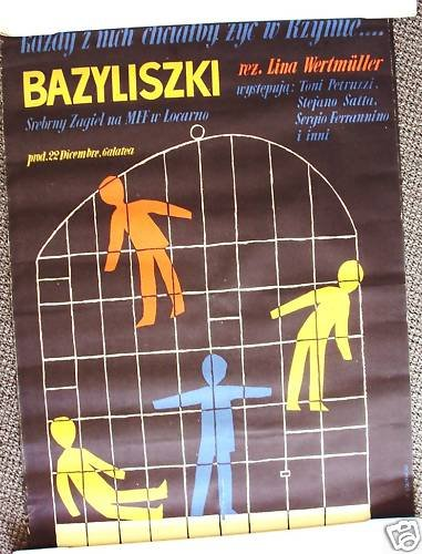 Lina Wertmüller POLISH The LIZARDS Poster  I basilischi