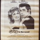 GREASE Newspaper  POSTER  Olivia Newton- JOHN  TRAVOLTA