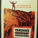 TARZAN Greatest ADVENTURE Window POSTER Gordon Scott 59
