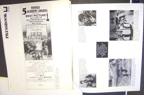 DEER HUNTER  PressBook ROBERT De NIRO Meryl Streep WAR