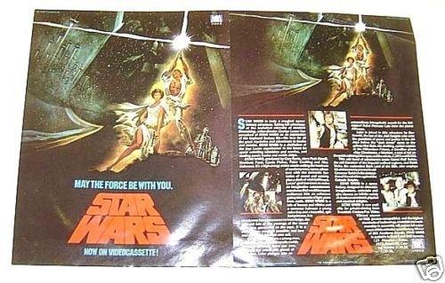 STAR WARS Original 1st ISSUE Promo FLYER  George Lucas