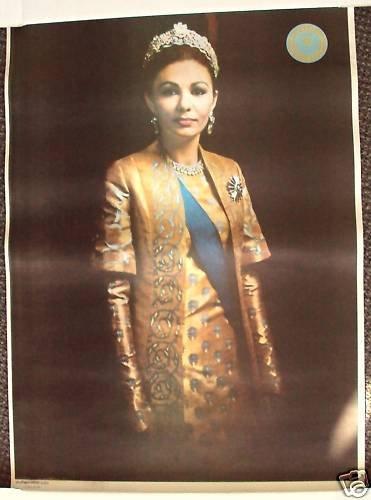 FARAH PAHLAVI Empress IRAN  Middle East  PERSIA  Poster