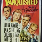 VANQUISHED John Payne WESTERN Poster 1953  Coleen Gray