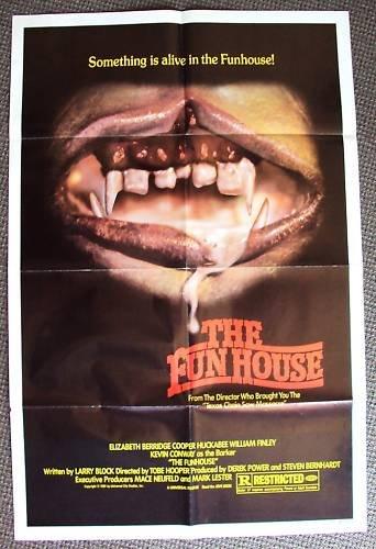 Fun House HORROR Poster TEXAS CHAINSAW Tobe Hooper 1981