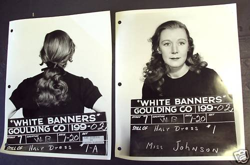 KAY JOHNSON Original  WARNER BROS Hair Test PHOTO  1938