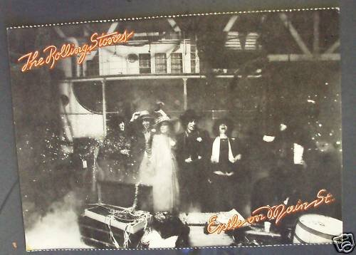 ROLLING STONES Exile on Main St. POSTCARD  Mick Jagger