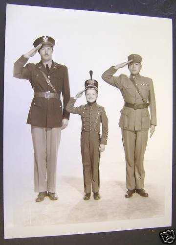 DADDY &  Son SALUTE Orig  ARMY BRAT Butch JENKINS Photo