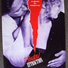 FATAL ATTRACTION  Poster MICHAEL DOUGLAS Glenn Close 87