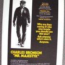 CHARLES BRONSON Elmore Leonard MR. MAJESTYK Poster 1974