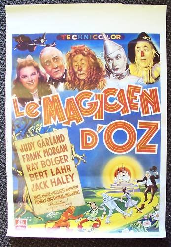 The WIZARD OF OZ Judy Garland BELGIUM Poster RAY BOLGER