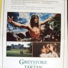 GREYSTOKE Legend TARZAN Lord of  Apes  DRIVE-IN  Poster